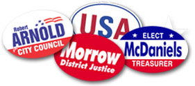 Capitol Promotions Custom Oval Campaign Bumper Stickers