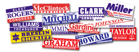 Capitol Promotions Political Campaign Bumper Stickers