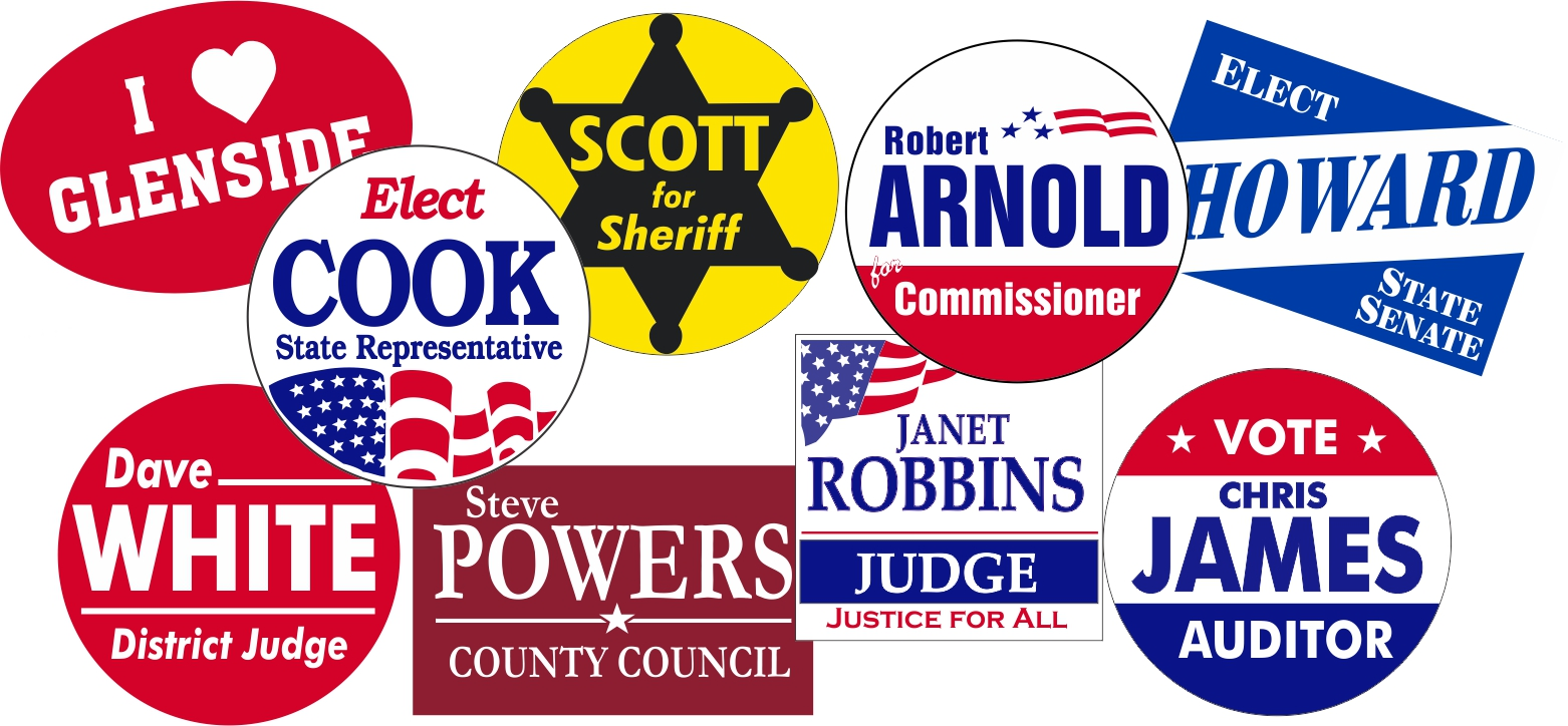 Capitol Promotions Custom Campaign Buttons
