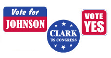 Capitol Promotions Political Campaign Buttons Roll Labels